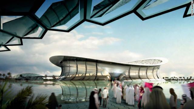 LUSAIL CITY, QATAR: In this handout illustration provided by Qatar 2022, the Qatar 2022 Bid Committee today unveiled detailed plans for the iconic Lusail Stadium. With a capacity in excess of 86,000 and surrounded by water, the stadium would host the World Cup Opening Match and Final if Qatar wins the rights to stage the 2022 FIFA World Cup. If Qatar is awarded the honour of staging the 2022 FIFA World Cup, construction of the Lusail Stadium will start in 2015 and be completed in 2019. It will retain its full capacity after 2022.