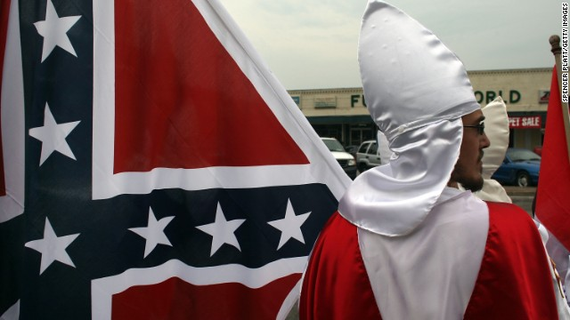 Members of the Fraternal White Knights of the Ku Klux Klan in Pulaski, Tennessee, in 2009.