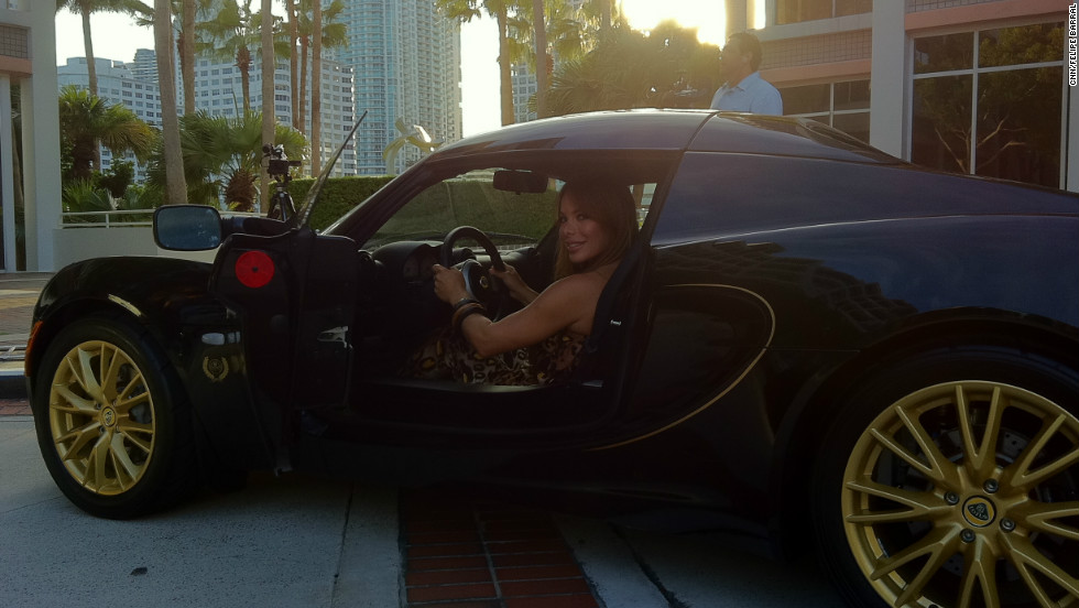 "When at home in Miami, Duno drives a black Lotus, a perk of her success. ""It doesn't matter if you are a woman or a man. The important thing is your ability, your intelligence and your determination -- how strong you are,"" she says."