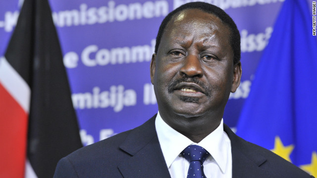 File photo of Prime Minister of Kenya, Raila Amolo Odinga, on March 8, 2012 at the EU Headquarters in Brussels.