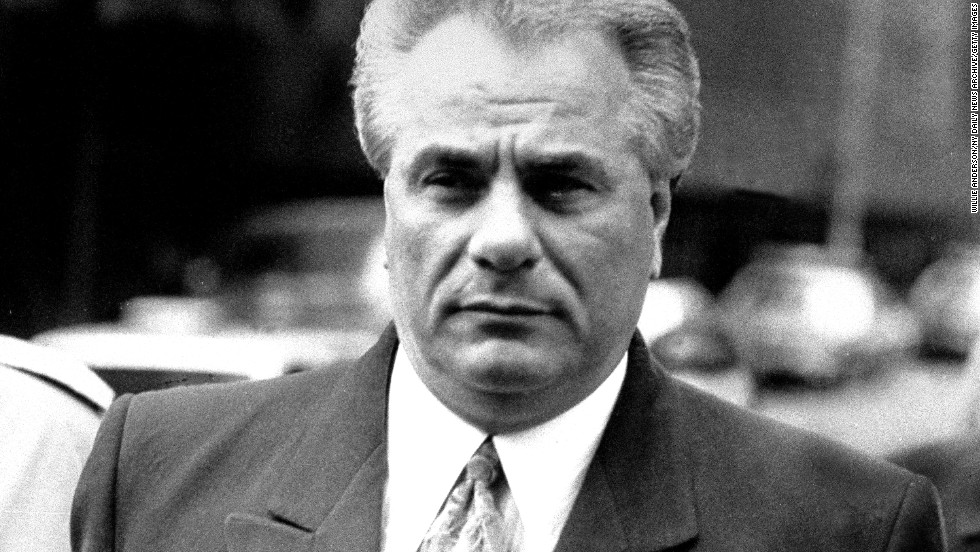"New York Mafia chief John Gotti was known as ""Dapper Don"" for his expensive suits and ""Teflon Don"" due to government charges failing to stick in three trials. He was later convicted of murder and racketeering. He died of cancer at age 61 in 2002 while serving a life sentence."