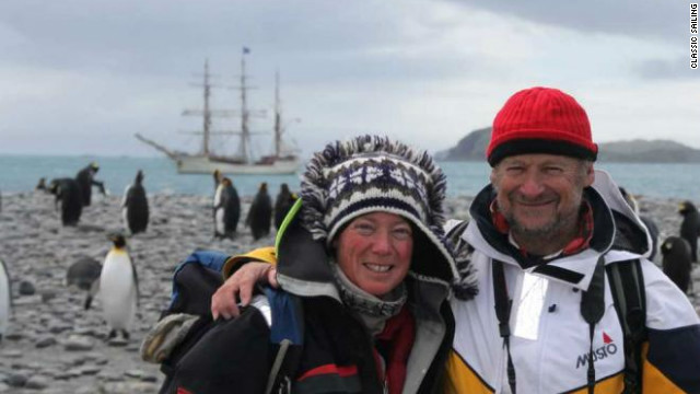 "Adam and Debbie Purser, founders of ""Classic Sailing"" charter company"