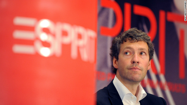 File photo of Ronald van der Vis, chief executive officer of Esprit Holdings Ltd, on February 3, 2010.
