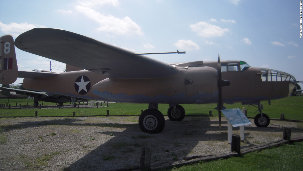 "This bomber was one of several B-25 Mitchells flown in the 1970 film ""<a href=""http://www.imdb.com/title/tt0065528/"" target=""_blank"">Catch-22.</a>"" Named ""Passionate Paulette,"" it's one of 139 surviving B-25s, 48 of which are still flying, <a href=""http://www.grissomairmuseum.com/?page_id=283"" target=""_blank"">according to Grissom Air Museum.</a>"