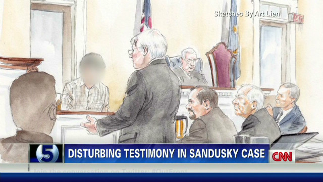 Sandusky trial: Victim 1 breaks down