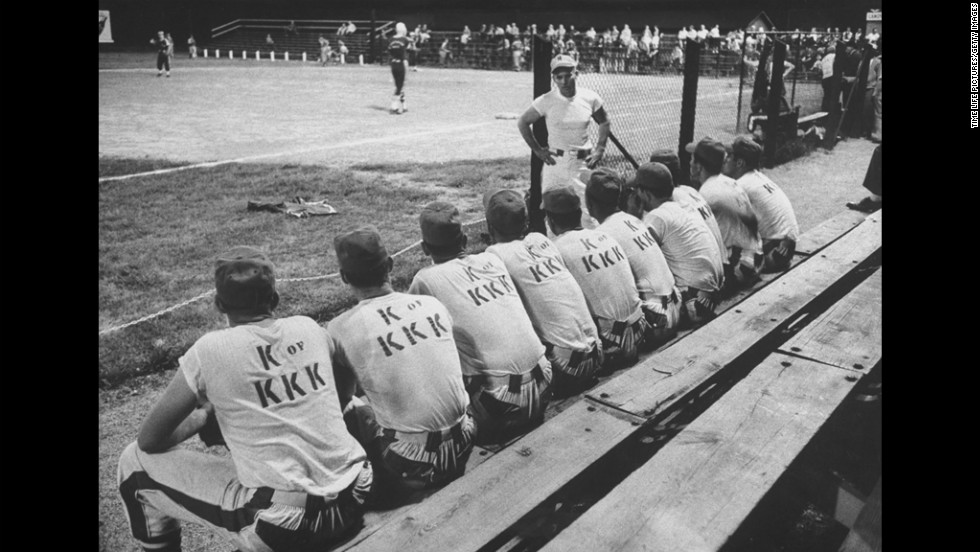 The knights of the Ku Klux Klan formed a baseball team in Tennessee in 1957.