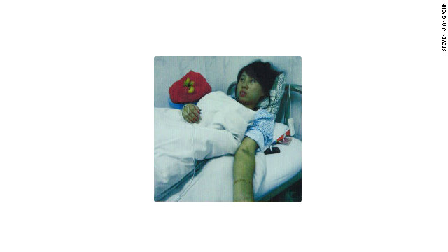 Chinese mother Feng Jianmei after her abortion operation.