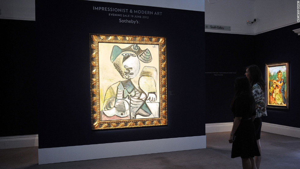 """Homme Assis"" by Pablo Picasso is expected to sell for $10 million to $15 million."
