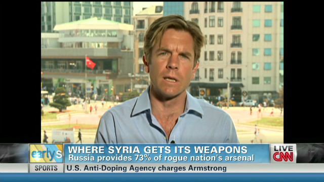 Questions on source of Syria's weapons