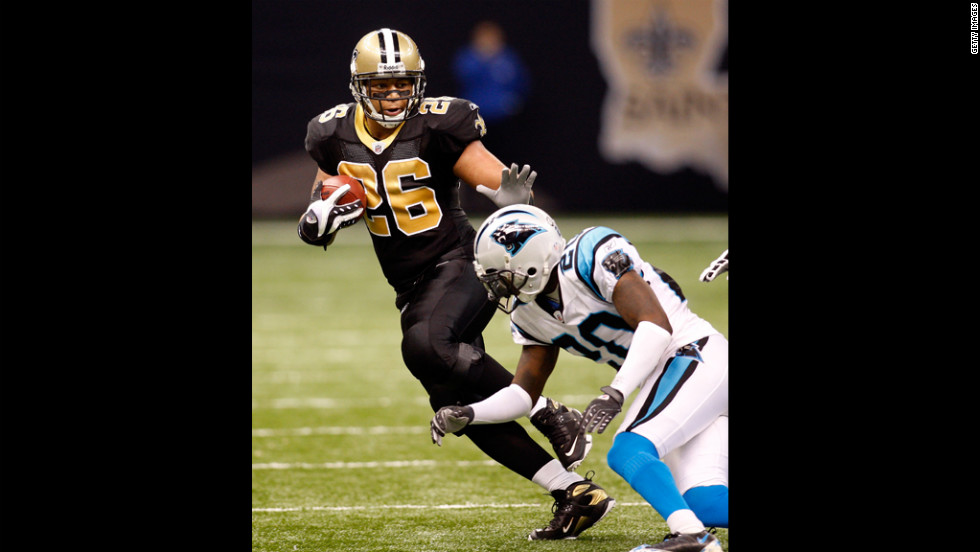 Former New Orleans Saints running back Deuce McAllister tested positive for a banned diuretic in 2008.