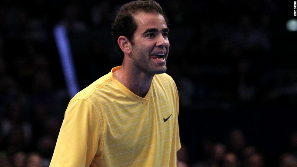 Sampras is still enjoying his tennis and was all smiles in a 2011 exhibition match in New York against old rival Agassi.