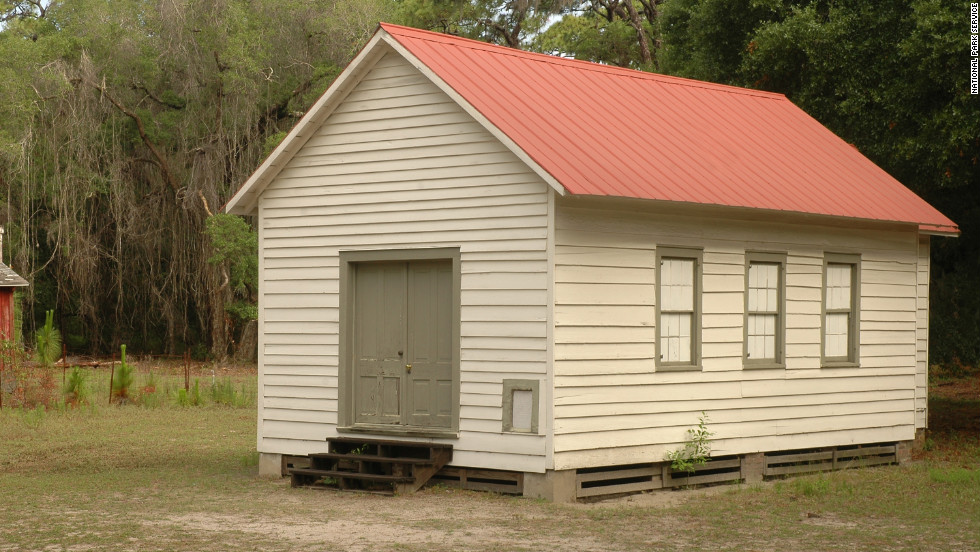 The First African Baptist Church on Cumberland Island was established in 1893 and rebuilt in the 1930s.