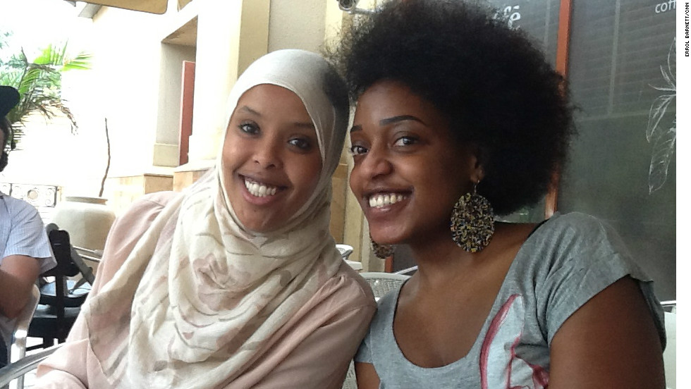 Errol conducts an experiment to see just how connected Nairobi, Kenya, is. He sends out a tweet, inviting people to come to meet him in a Nairobian cafe, and waits to see who turns up. Here are two of the half a dozen participants, Diane Munezero and Nahla Abass.