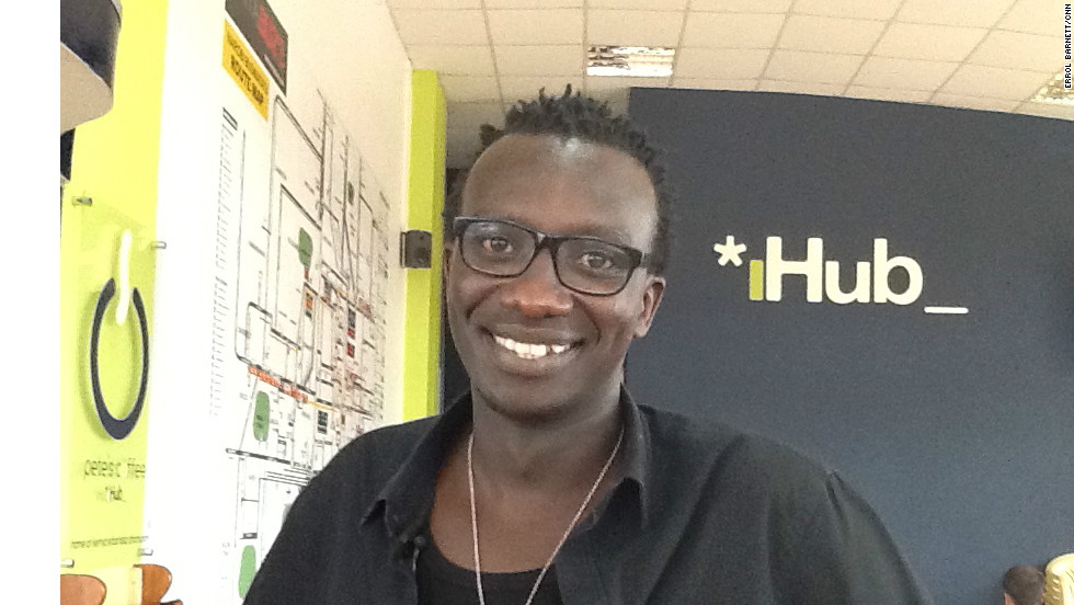 "Tosh Juma manages the iHub, which is described by its founders as ""an open space for the tech community in Kenya with great ideas that will lead to development of new technologies in Kenya."""