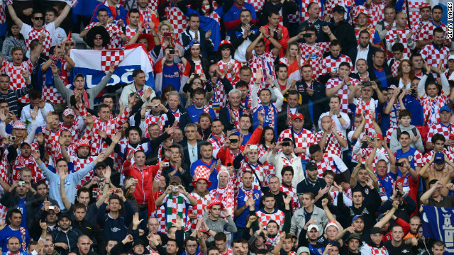Croatia supporters at the Euro 2012 match against Italy in Poznan on June 14.