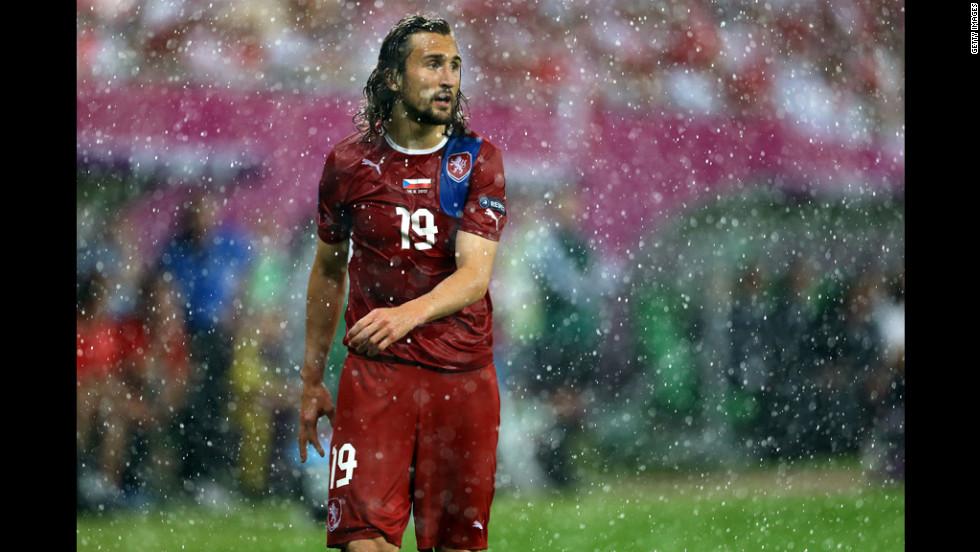 Petr Jiracek of Czech Republic looks on during the match between Czech Republic and Poland.