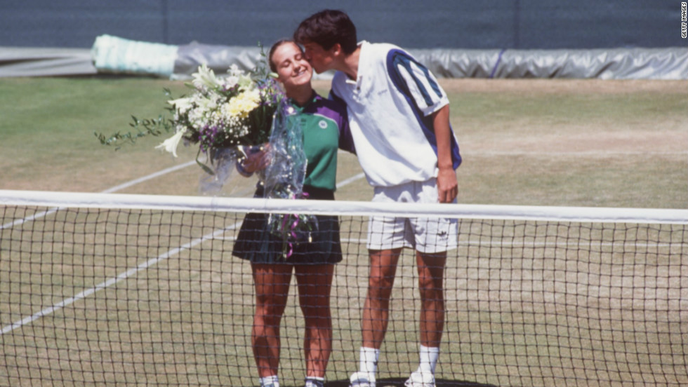 Tim Henman may have enjoyed some of the finest moments of his career at Wimbledon, but he also had a nightmare experience at the All England Club in 1995. During a doubles match alongside fellow Briton Jeremy Bates, Henman hit a ball in frustration which struck ball girl Caroline Hall (left), resulting in the pair's disqualification.