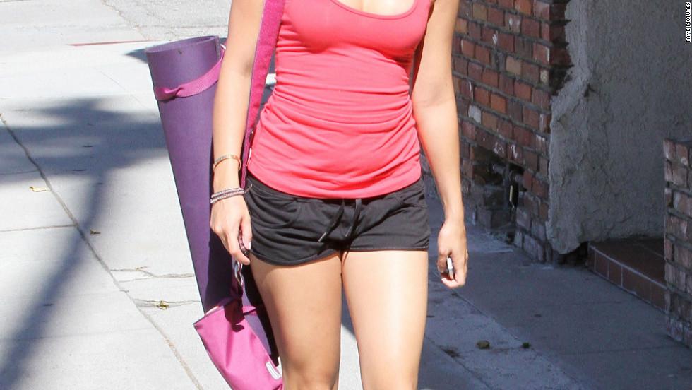 Vanessa Hudgens goes to pilates class in Studio City.