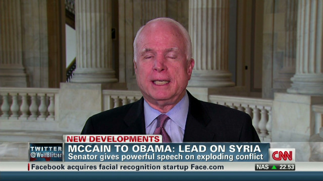 McCain to Obama: Lead on Syria