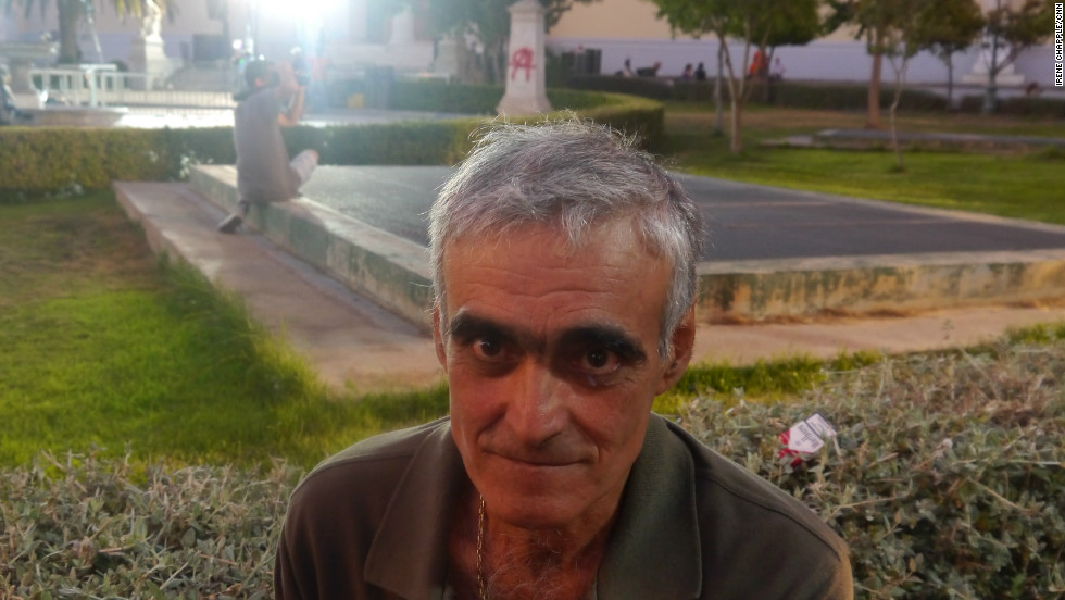 """Nicos Theodorous at the Syriza supporters rally on June 17, 2012. He did not vote but says he supports """"all Greek people."""""""