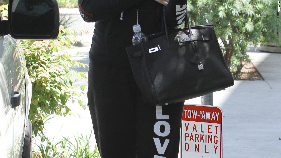 Khloe Kardashian walks around Beverly Hills.