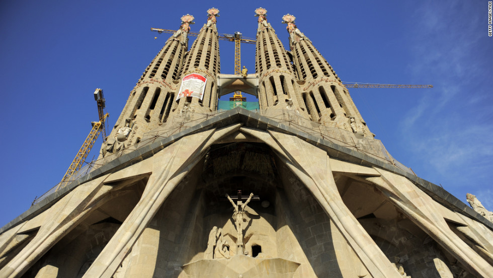 Another popular tourist draw, Gaudi's La Sagrada Familia, has been under construction for more than a century.