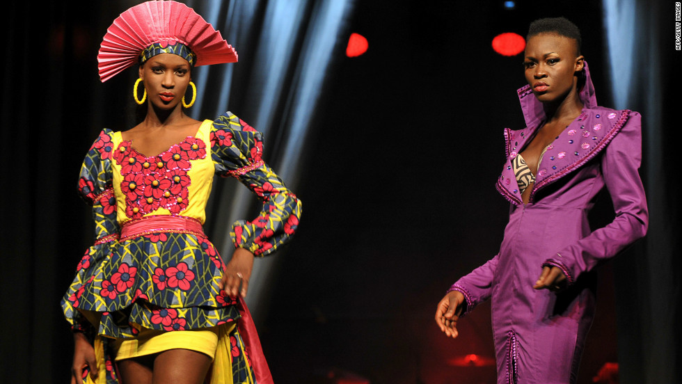 Bright colors dominated the week, such as these playful outfits from Senegalese  designer Mamta Lopy.