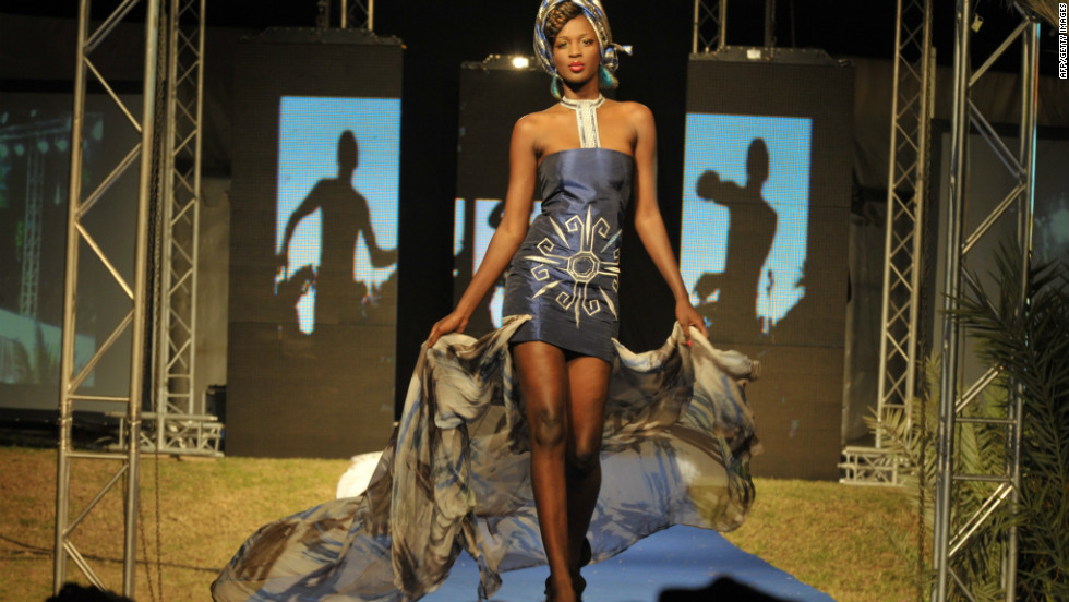 Old Hollywood glamor met traditional African fashion in this piece from Benin designer by Dasha Nicoue.