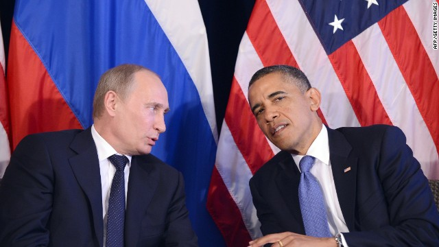 Russian President Vladimir Putin meets with President Barack Obama on Monday on the sidelines of the G-20 summit in Mexico.