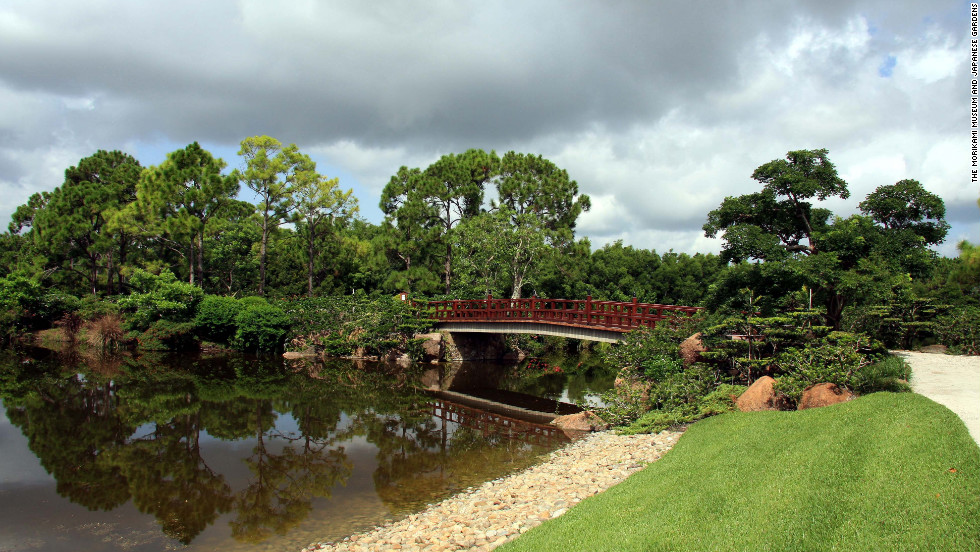 The Morikami Museum & Japanese Gardens showcases Japanese art and culture in South Florida.