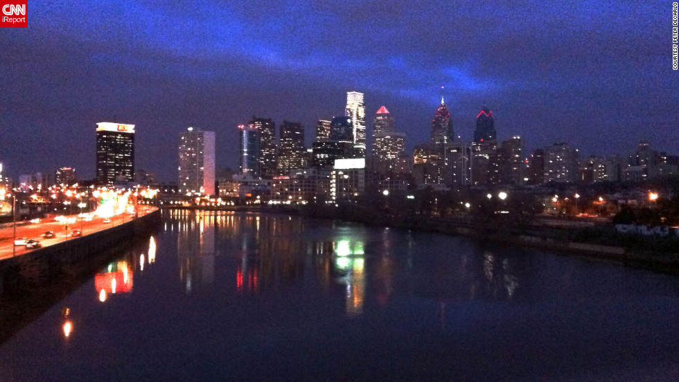 "Peter DeCarlo lives in Philadelphia and captured the city's skyline reflecting off the river from the South Street Bridge.See more photos of Philadelphia at <a href=""http://ireport.cnn.com/docs/DOC-804184"" target=""_blank"">DeCarlo's iReport</a>."