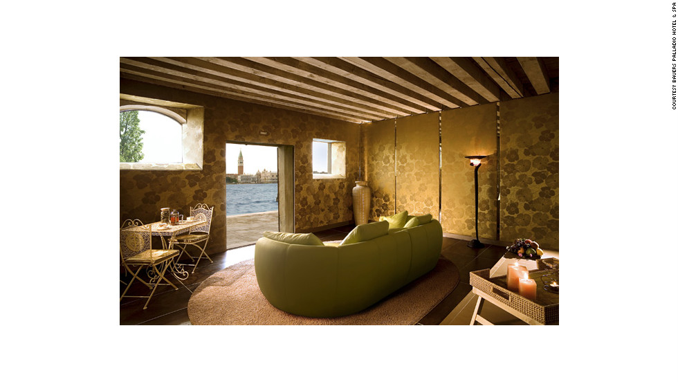 """Venice's most famous landmarks are St. Mark's Square and the Doge's Palace—and that's exactly what you will see from the Bauers Palladio Hotel & Spa. <a href=""""http://www.budgettravel.com/slideshow/photos-girls-weekend-world-spas-with-incredible-views,8525/ """" target=""""_blank"""">See more photos of the spas at BudgetTravel.com</a>."""