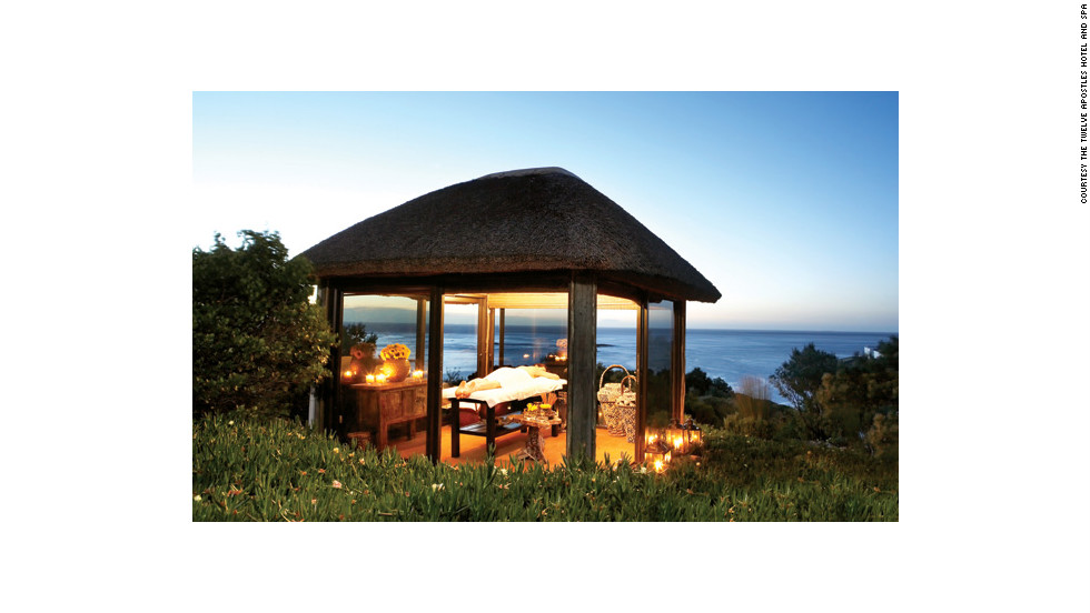 "The Twelve Apostles Hotel and Spa in Cape Town, South Africa, has open-air gazebos where you can have your treatment looking out over the water. <a href=""http://www.budgettravel.com/slideshow/photos-girls-weekend-world-spas-with-incredible-views,8525/"" target=""_blank"">See more photos of the spas at BudgetTravel.com</a>."