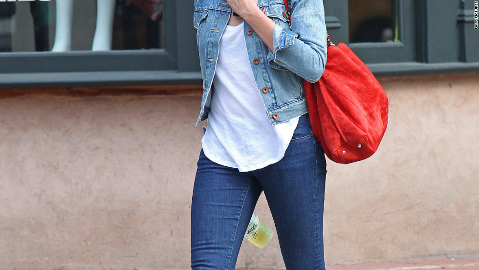 Cameron Diaz walks around New York City.