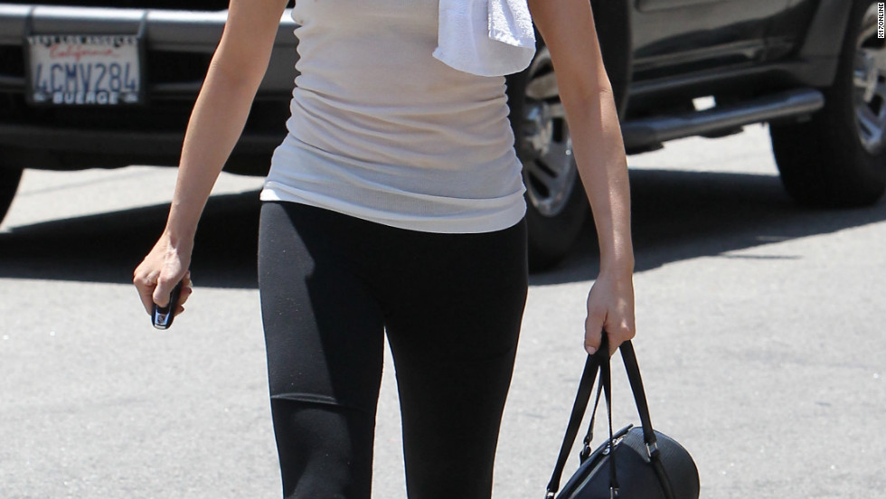 Rose McGowan leaves the gym in Studio City.