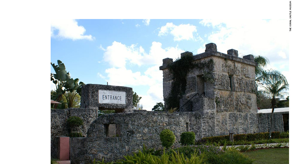 Edward Leedskalnin built the Coral Castle as a monument to the woman who broke his heart.
