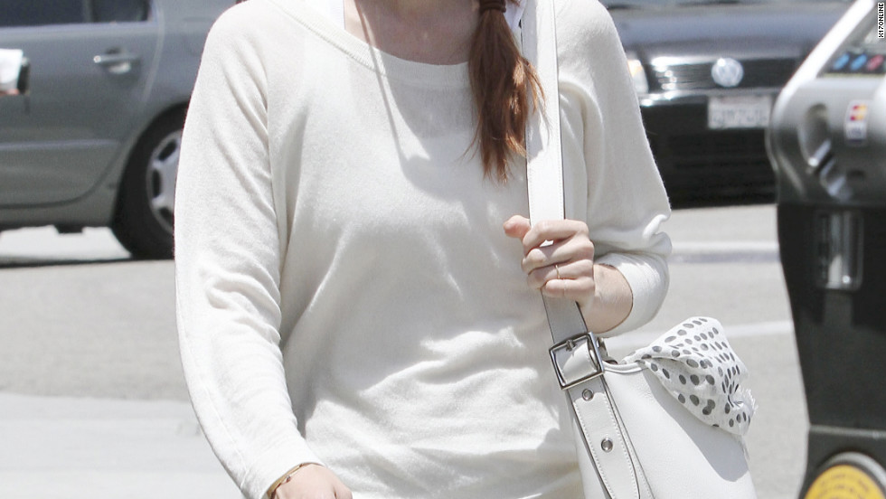January Jones does some shopping in Beverly Hills.
