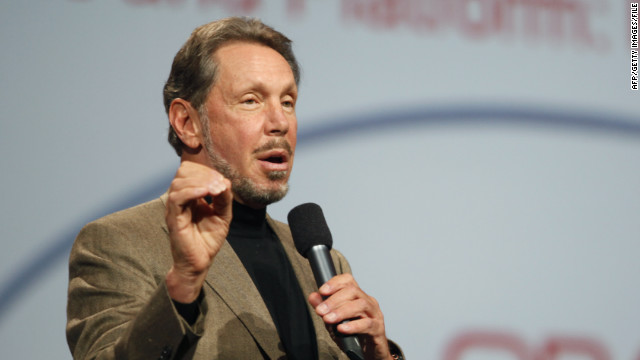 Oracle CEO Larry Ellison introduces Oracle's cloud computing during the Oracle OpenWorld 2011 at the Moscone Center in San Francisco, October 5, 2011. (Photo by Kimihiro Hoshino/AFP/Getty Images)
