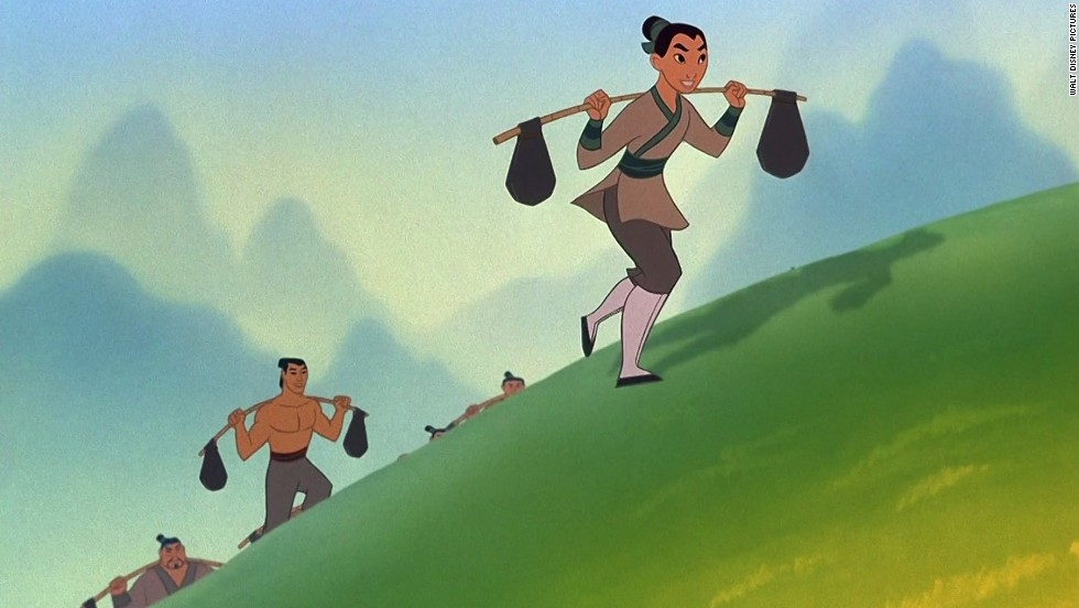 "Mulan bent traditional gender roles when she took her father's place in the Chinese army in 1998's ""Mulan."" Don't pretend you didn't get chills when she climbed up that pole during the ""I'll Make a Man Out of You"" <a href=""http://www.youtube.com/watch?v=ZSS5dEeMX64"" target=""_blank"">training montage.</a>"