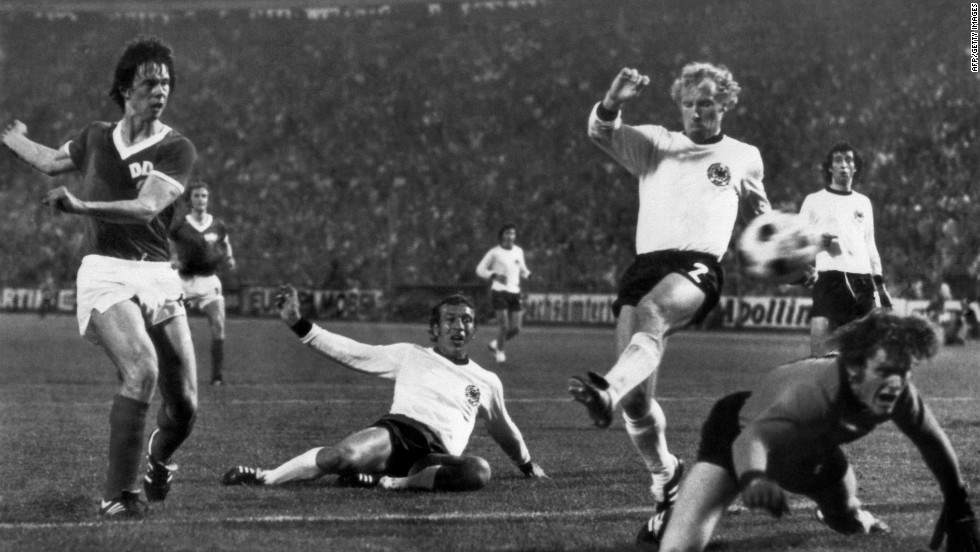 The meeting between West Germany and East Germany in the 1974 World Cup surely counts as one of football's most politically-charged  matches. With the nation still divided after World War II, and the Cold War raging, East Germany forward Jurgen Sparwasser scored the only goal of the game. West Germany had the last laugh though, going on to win the tournament.