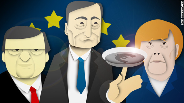 Europe's leaders -- like Jose Manuel Barroso, Mario Draghi and Angela Merkel -- are spinning plates as they try to solve crisis