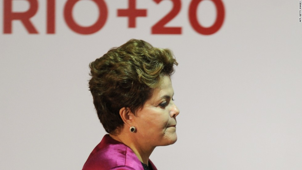 "WWF's Leape added: ""Too few countries prepared to press for action, Brazilian President Dilma Rousseff (pictured) chose to drive a process with no serious content -- to the planet's detriment."""