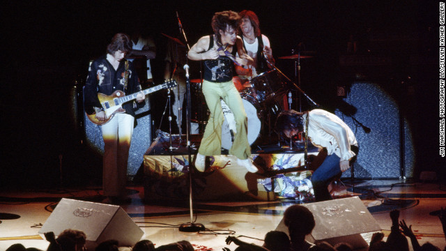 Mick Taylor, from left, Mick Jagger, Charlie Watts and Keith Richards perform at San Francisco's Winterland in 1972.