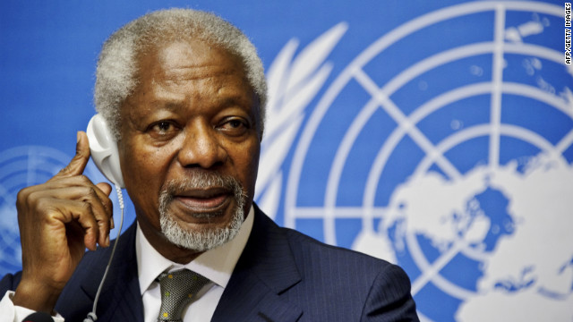 Annan discusses latest action on Syria