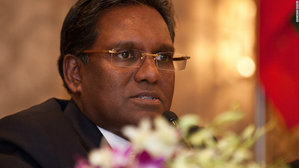 There was also positive news announced by Maldives' President Mohamed Waheed (pictured), who says that the country will be creating the largest marine reserve in the world. The waters surrounding all 1,192 of its islands would assume the status by 2017.