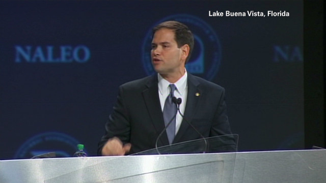 Rubio: Immigration isn't a talking point