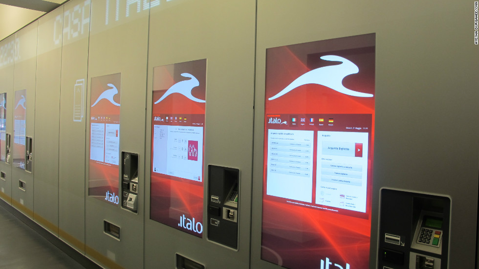 The service provides touch-screen ticket machines and a concierge-style service all the way to the platform.