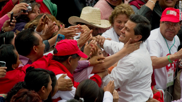 Enrique Pena Nieto of the Institutional Revolutionary Party has faced criticism from U.S. lawmakers.