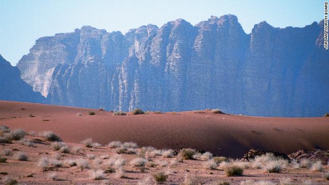 The emptiness of Wadi Rum.