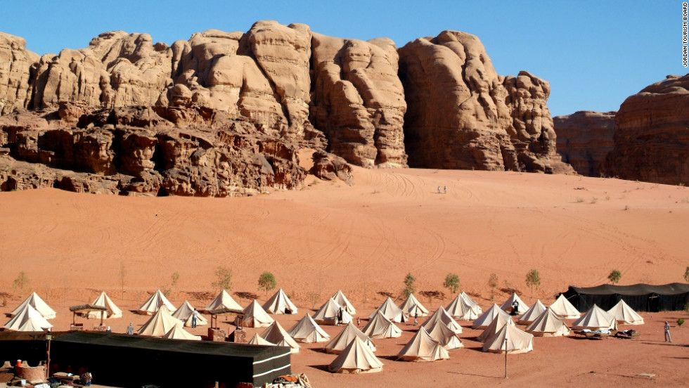 Travelers can stay at desert camps -- don't expect any hotels.